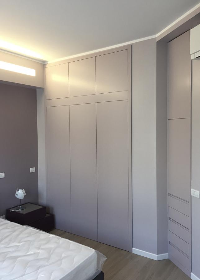 Ristrutturazione appartamento Nomentano DM letto lilla