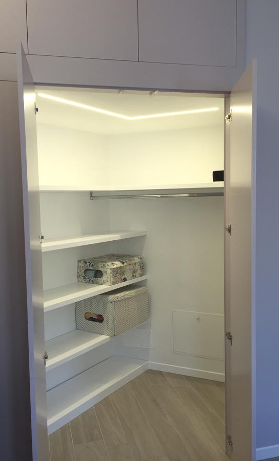 Ristrutturazione appartamento Nomentano DM cabina armadio