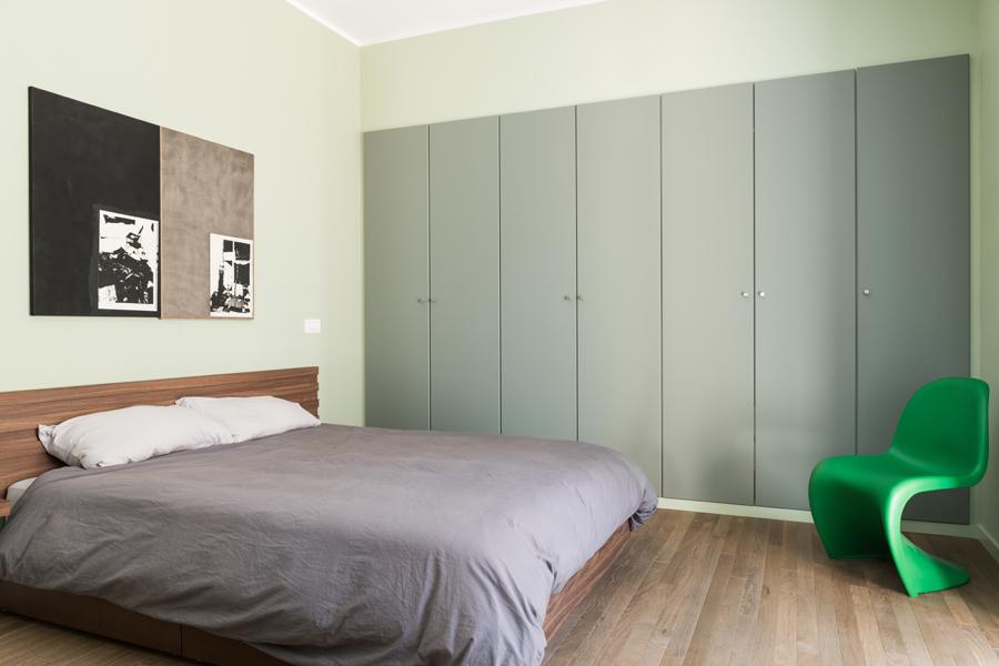 Ristrutturazione Appartamento Prati MC Camera verde